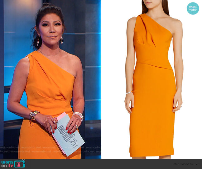 One Shoulder Dress by Narciso Rodriguez worn by Julie Chen  on Big Brother