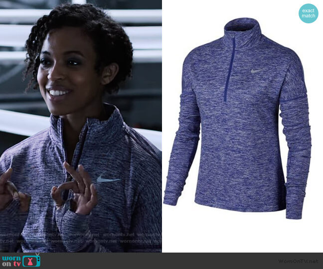 Nike Dry Element Half Zip Long Sleeve Top by Nike worn by Ani (Grace Saif) on 13 Reasons Why