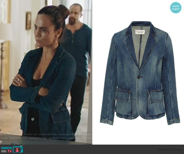 Addison Blazer by Nili Lotan worn by Teresa Mendoza (Alice Braga) on Queen of the South