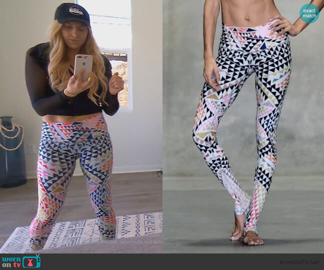Kaleidoscope Endless Leggings by Niyama Sol worn by Gina Kirschenheiter  on The Real Housewives of Orange County