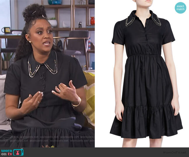 Embellished Collar Poplin Dress by No. 21 worn by Tia Mowry on E! News Daily Pop