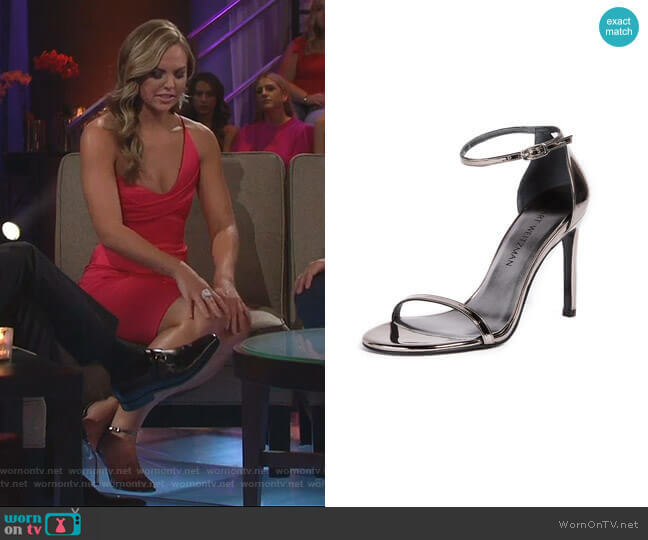 Nudistsong Sandals by Stuart Weitzman worn by Hannah Brown  on The Bachelorette