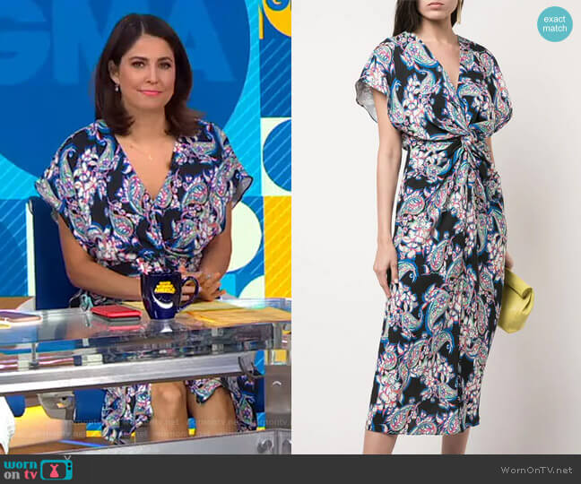 Printed Jackie Dress by Prabal Gurung worn by Cecilia Vega  on Good Morning America