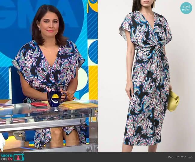 Printed Jackie Dress by Prabal Gurung worn by Cecilia Vega  on Good Morning America