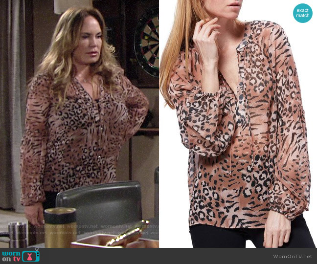 Paige Beretta Blouse worn by Anita Lawson on The Young and the Restless