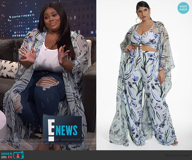 Lindsey Cover Up by Rue107 worn by Nina Parker  on E! News