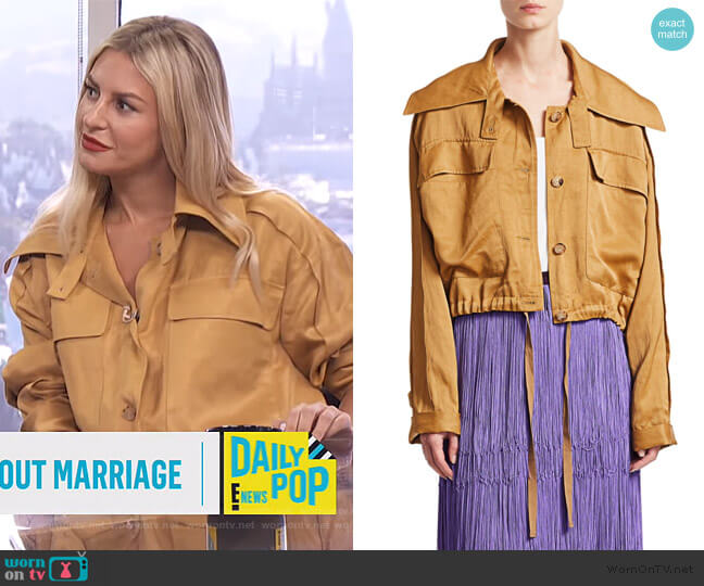 Embed Satin Cargo Jacket by Rachel Comey worn by Morgan Stewart  on E! News
