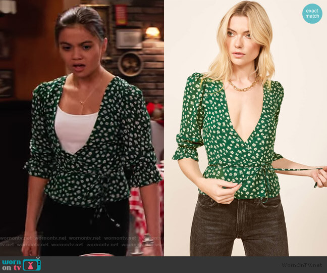 Emma Top by The Reformation worn by Nick (Siena Agudong) on No Good Nick