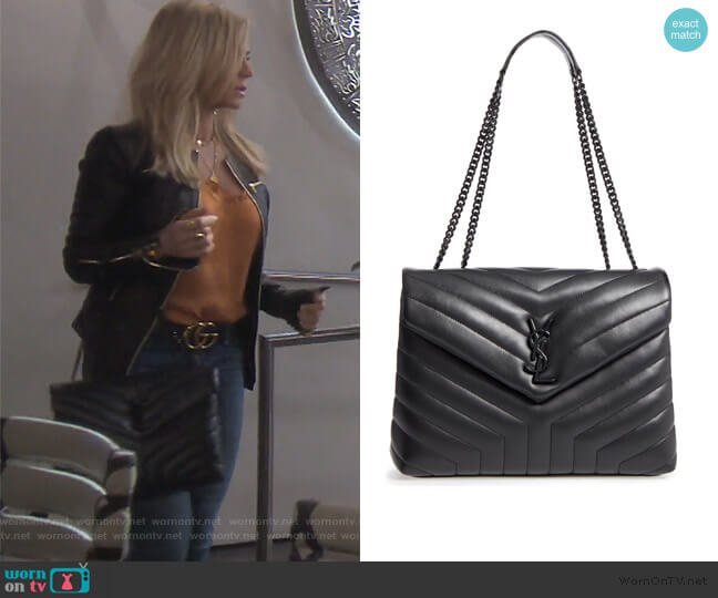 Loulou Matelasse Leather Shoulder Bag by Saint Laurent worn by Tamra Judge  on The Real Housewives of Orange County