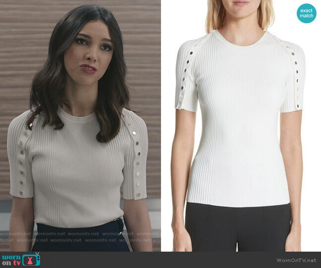 nap Sleeve Top by Alexander Wang worn by Alicia Mendoza (Denyse Tontz) on Grand Hotel
