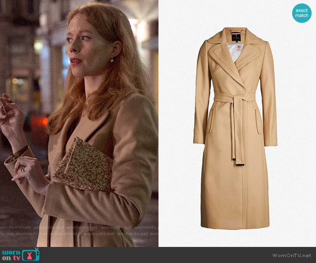 Ted Baker Gabella Coat worn by Gemma (Zoe Boyle) on Four Weddings & a Funeral
