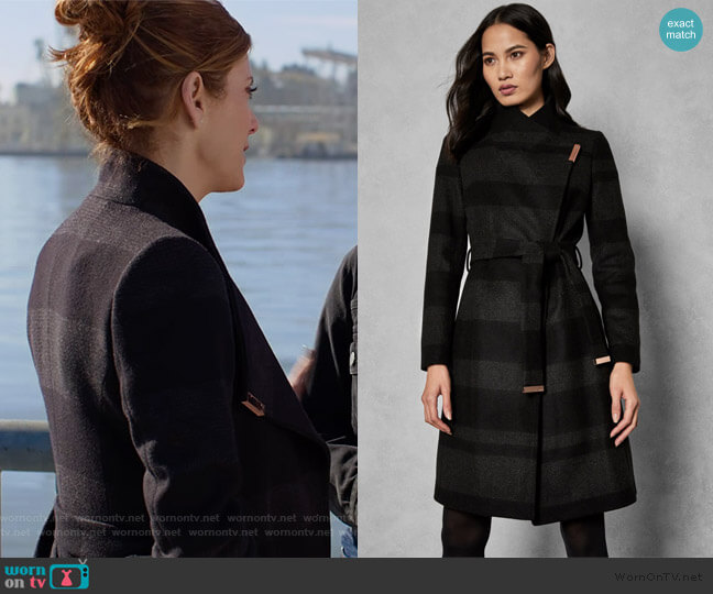 Narrla Coat by Ted Baker worn by Olivia Baker (Kate Walsh) on 13 Reasons Why