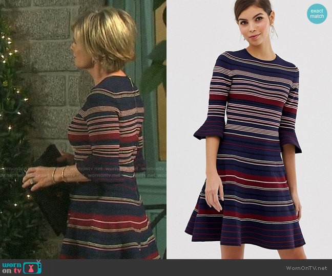 Ted Baker Tayiny Dress worn by Kayla Brady (Mary Beth Evans) on Days of our Lives