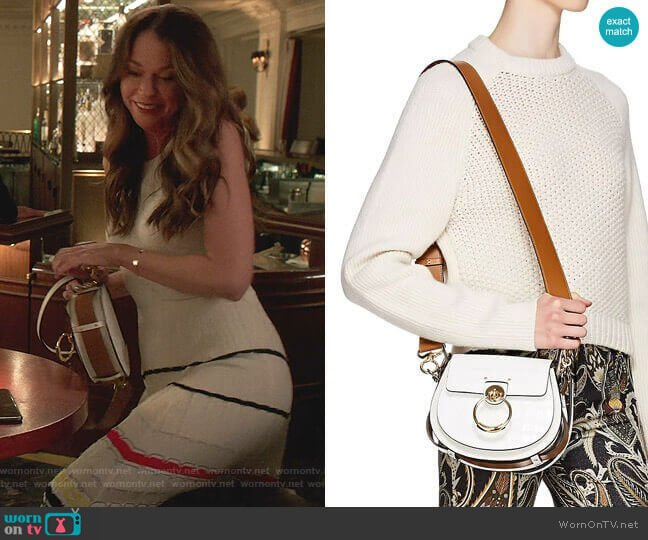 Tess Leather Shoulder Bag by Chloe worn by Liza Miller (Sutton Foster) on Younger