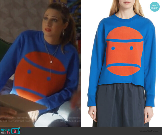 Little Grumps Crop Tee by Tory Sport worn by Nomi Segal (Emily Arlook) on Grown-ish