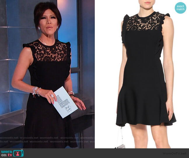 Lace-panel minidress by Valentino worn by Julie Chen  on Big Brother