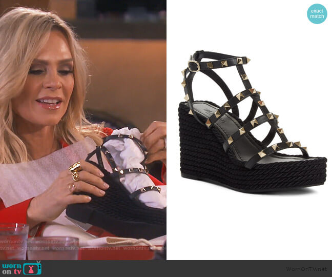 Valentino Torchon Espadrille Wedge by Valentino worn by Tamra Judge  on The Real Housewives of Orange County