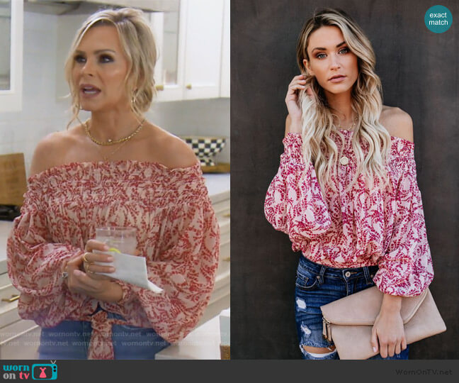 Grapevine Top by Vici worn by Tamra Judge  on The Real Housewives of Orange County
