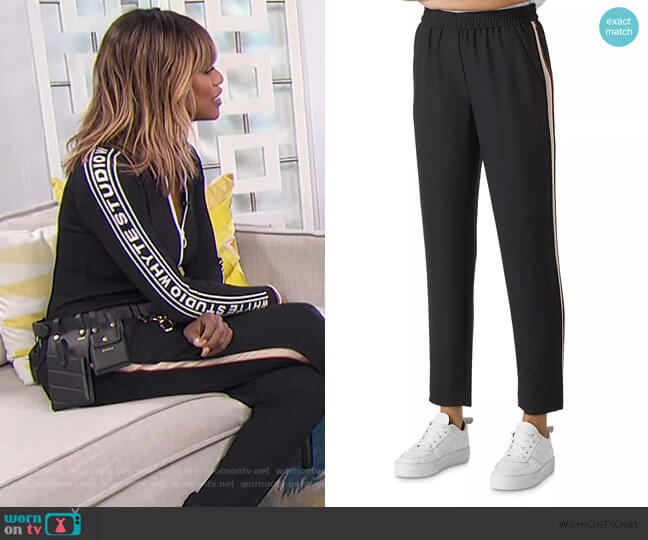 Elyse Side-Stripe Pants by Whistles worn by Laverne Cox on E! News Daily Pop