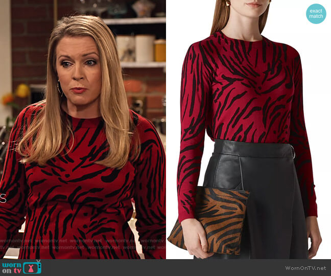 Tiger-Print Sweater by Whistles worn by Liz (Melissa Joan Hart) on No Good Nick