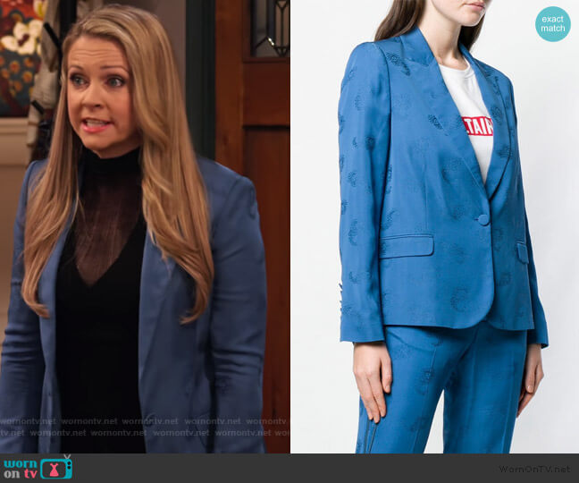 Victor Paisley Blazer by Zadig & Voltaire worn by Liz (Melissa Joan Hart) on No Good Nick