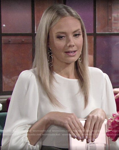 Abby's white blouse on The Young and the Restless