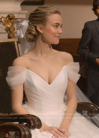 Ainsley's wedding dress on Four Weddings and a Funeral