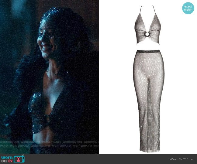 Akna Black Crystal Gown worn by Maddy Perez (Alexa Demie) on Euphoria