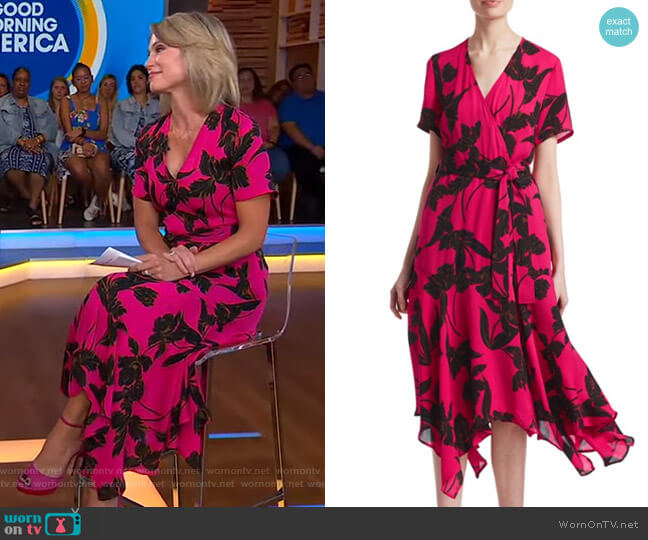 Cora Dress by A.L.C. worn by Amy Robach  on Good Morning America