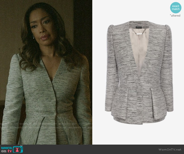Alexander McQueen Fold Peplum Jacket worn by Jessica Pearson (Gina Torres) on Pearson