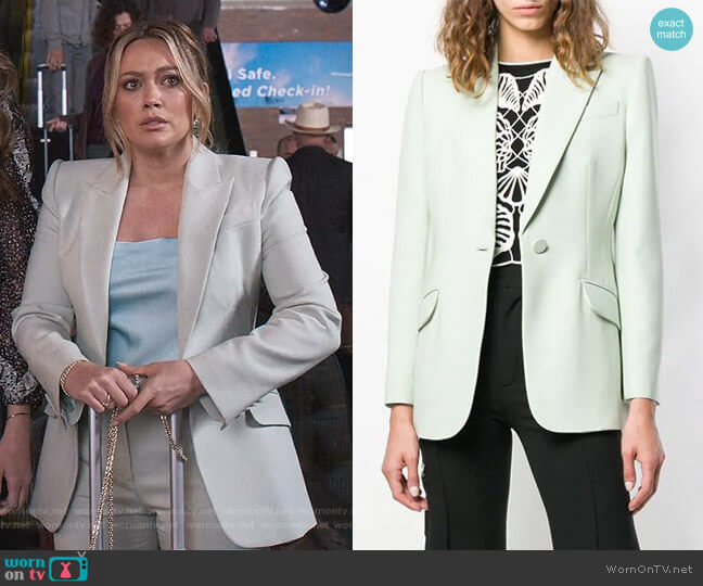 Tailored Jacket by Alexander Mcqueen worn by Kelsey Peters (Hilary Duff) on Younger