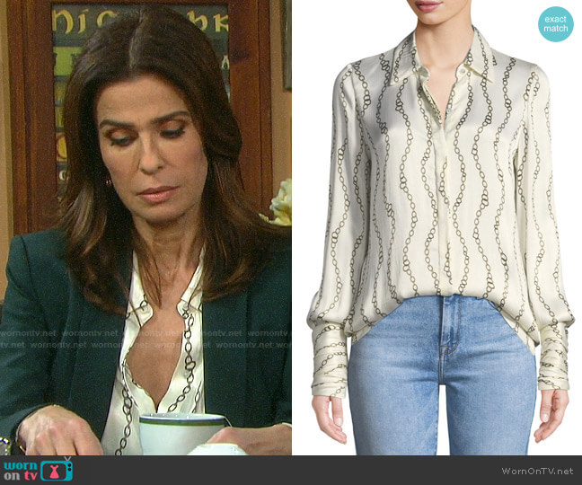 Alexis Laura Top worn by Hope Williams (Kristian Alfonso) on Days of our Lives