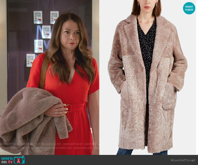 Alice Coat by Barneys New York worn by Liza Miller (Sutton Foster) on Younger