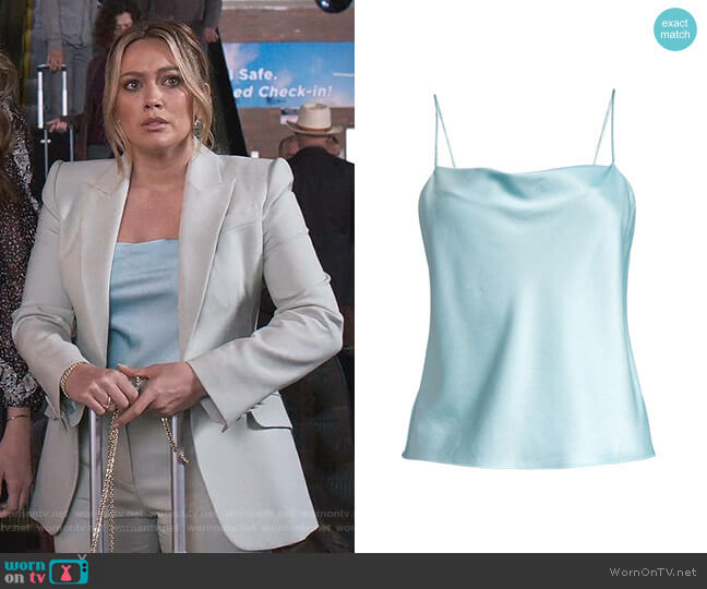 Harmon Drapey Camisole by Alice + Olivia worn by Kelsey Peters (Hilary Duff) on Younger