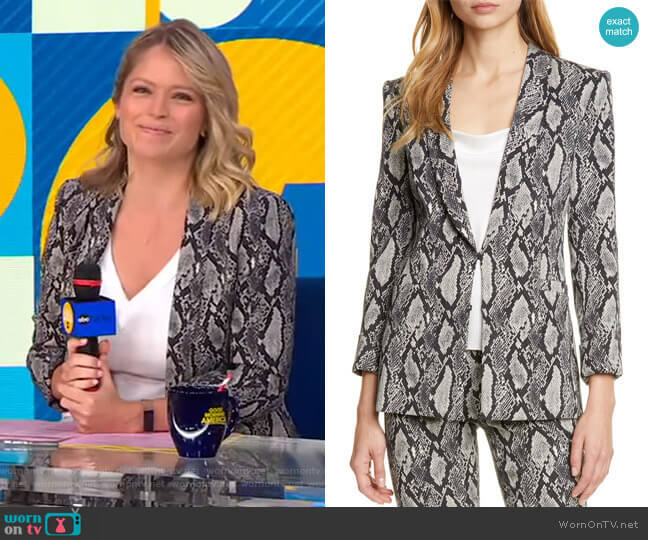 Richie Jacket by Alice + Olivia worn by Sara Haines  on Good Morning America