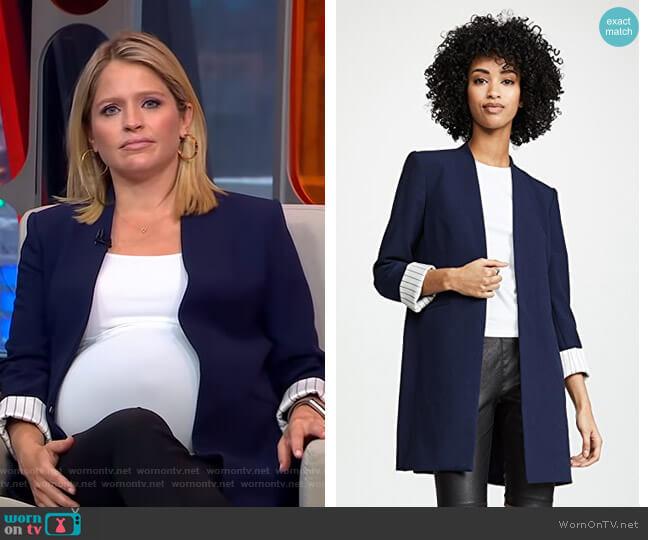 Simpson Blazer by Alice + Olivia worn by Sara Haines  on Good Morning America