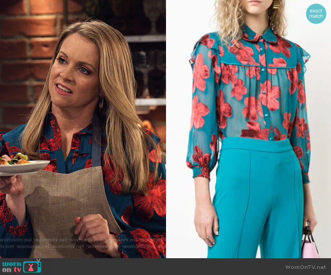 Ziggy Shirt by Alice + Olivia worn by Liz (Melissa Joan Hart) on No Good Nick