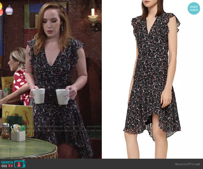 All Saints Caris Dress worn by Mariah Copeland (Camryn Grimes) on The Young & the Restless