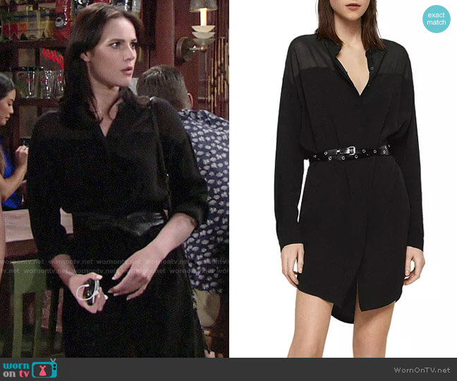 All Saints Helle Shirt Dress worn by Tessa Porter (Cait Fairbanks) on The Young & the Restless