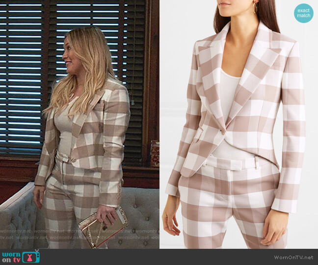 Lazio Asymmetric Blazer by Altuzarra worn by Kelsey Peters (Hilary Duff) on Younger