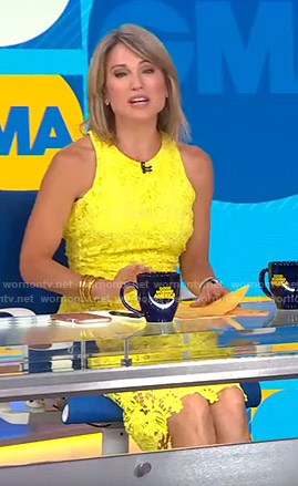 Amy's yellow lace dress on Good Morning America