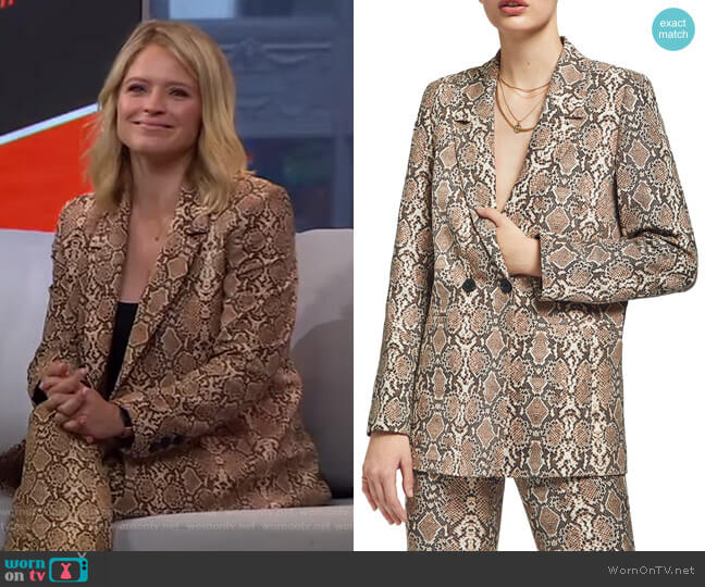 Madeleine Blazer by Anine Bing worn by Sara Haines  on Good Morning America