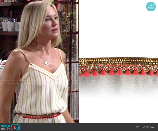 Anthropologie Deepa Anika Embellished Belt worn by Sharon Collins (Sharon Case) on The Young & the Restless