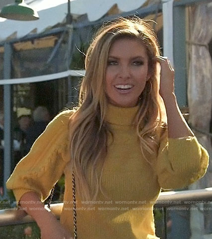 Audrina's yellow turtleneck sweater on The Hills New Beginnings