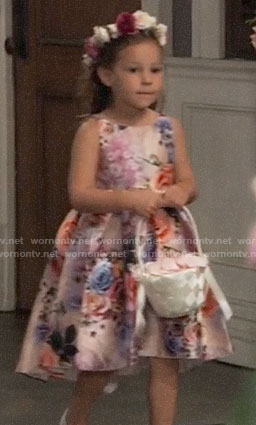 Avery's floral flower girl dress on General Hospital