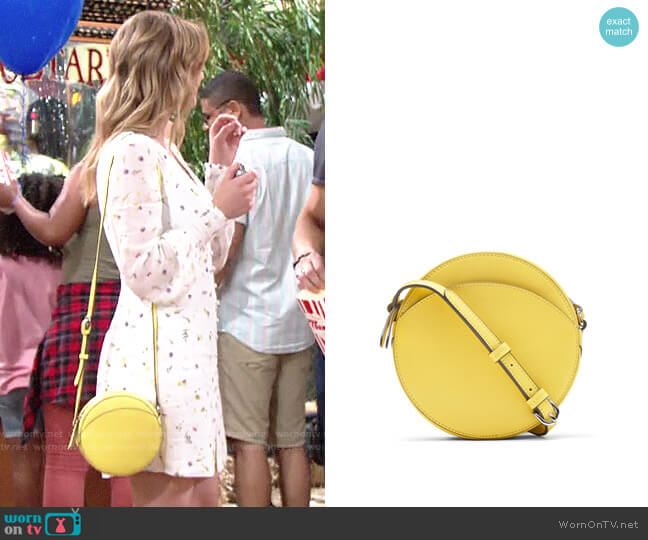 Banana Republic Italian Leather Circle Crossbody Bag worn by Summer Newman (Hunter King) on The Young & the Restless