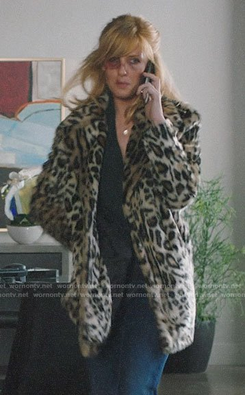Beth's leopard fur coat on Yellowstone