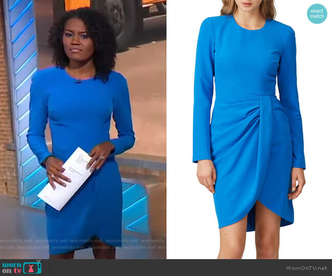 Ivana Dress by Black Halo worn by Janai Norman  on Good Morning America