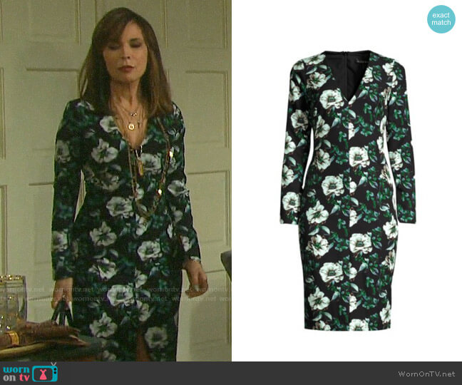 Black Halo Sambora Dress worn by Kate Roberts (Lauren Koslow) on Days of our Lives