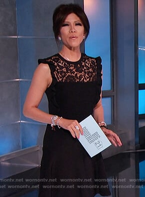 Julie Chen's black lace dress on Big Brother